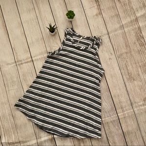 Gray and white striped top by mittoshop